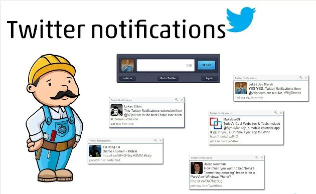 how to get chrome notifications twitter