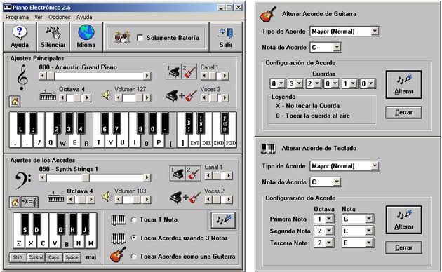 Piano Electrónico, toca hasta 128 instrumentos musicales con el teclado de tu PC