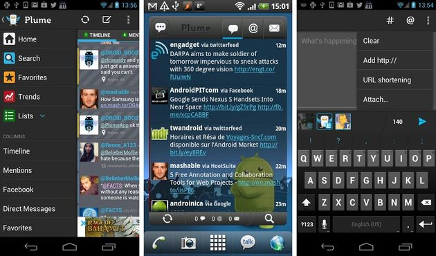 Plume for Twitter Plume for Twitter, uno de los mejores clientes de Twitter para Android