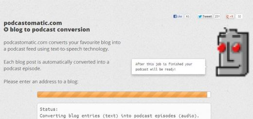 Podcastomatic, convierte un blog en un podcast con esta herramienta web (para idioma inglés)