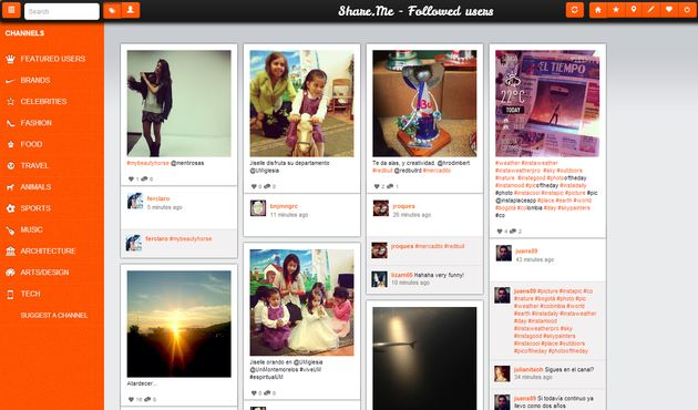 Shareme Share.me, visualiza Instagram bajo apariencia similar a Pinterest