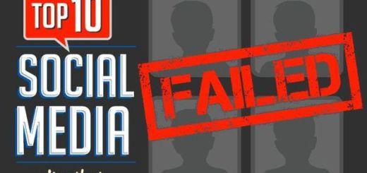 Infografía con el Top Ten de redes sociales que fracasaron