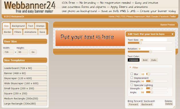 Webbanner24, crea todo tipo de banners con esta utilidad web gratuita