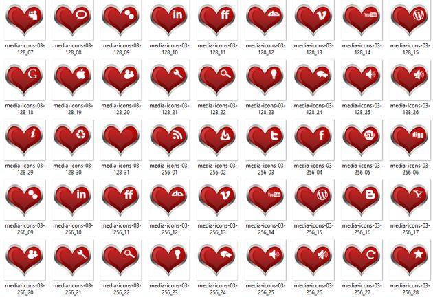 30 Valentine Icons