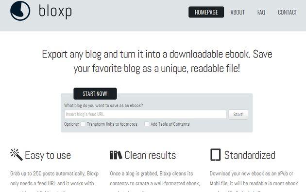 Bloxp, utilidad web gratuita para transformar tu blog en un eBook