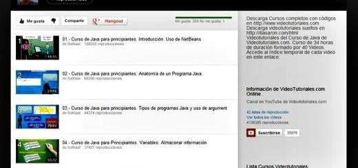 Vídeo tutorial gratuito de JAVA en 40 vídeos en español