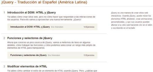 Aprende a programar en jQuery con este curso gratuito y en español de Codecademy