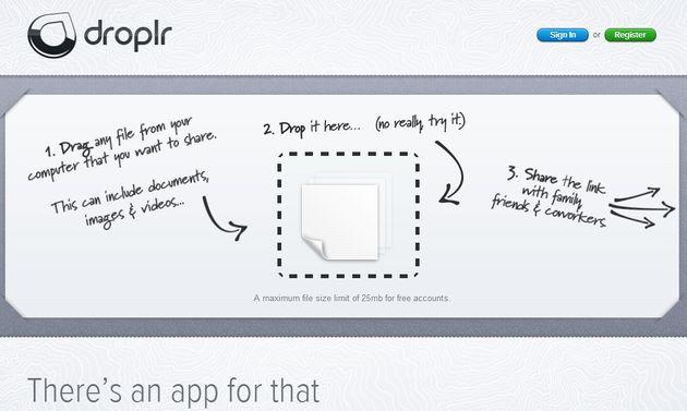 Droplr, una solución multiplataforma muy rápida para compartir pequeños archivos