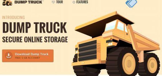Dump Truck, 5 Gb para almacenamiento seguro de archivos en la nube y sincronización entre dispositivos
