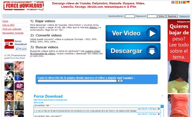 Force Download Force Download, utilidad web para descargar vídeos de YouTube y servicios similares