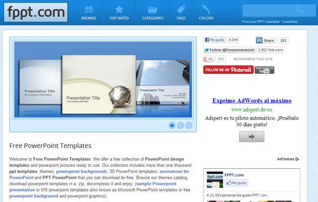 Free PowerPoint Templates, más de 2000 plantillas gratuitas para PowerPoint