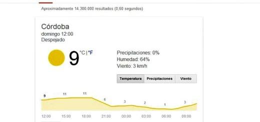 Google rediseña y mejora su función para la previsión meteorológica