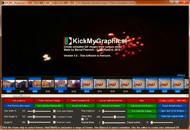 KickMyGraphics: potente software gratuito para crear, editar y optimizar animaciones GIF
