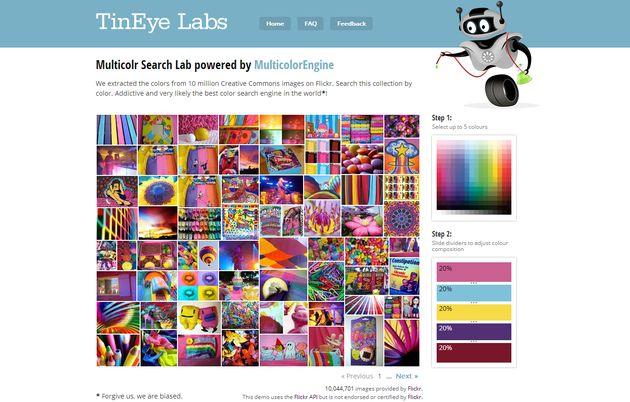 Multicolr Search Lab, un buscador de imágenes según sus colores predominantes