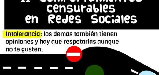 Una infografía que nos enseña 11 conductas censurables en las redes sociales