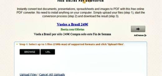 PDFconv, utilidad web gratuita para convertir todo tipo de archivos y documentos a PDF