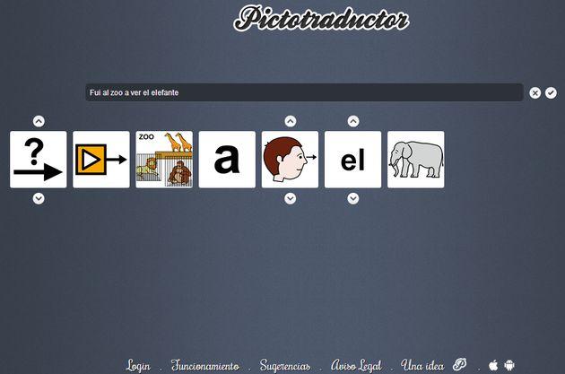 Pictotraductor Pictotraductor, convierte cualquier frase en una sucesión de imágenes