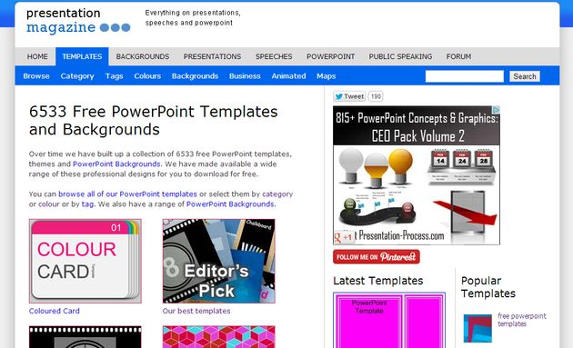 Presentation Magazine, más de 6500 plantillas y fondos gratis para tus presentaciones en PowerPoint