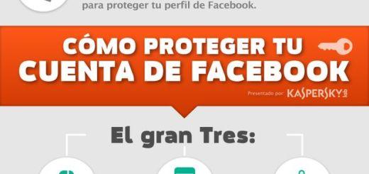 Una infografía en español que nos enseña a proteger nuestro perfil de Facebook