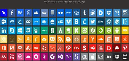 Simple Icons, un centenar de bellos iconos sociales en 11 tamaños diferentes