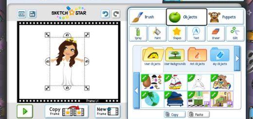 Sketch Star, crea animaciones online para publicar y compartir