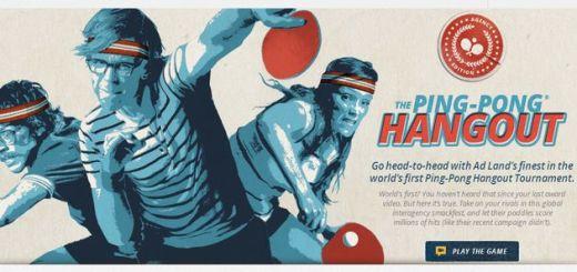The Ping-Pong Hangout, juega al ping pong con movimientos de cabeza con los hangouts de Google+