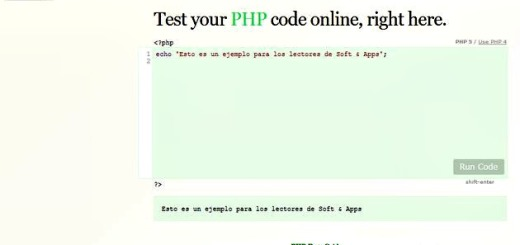 WriteCodeOnline, testea online tu código en JavaScript o PHP