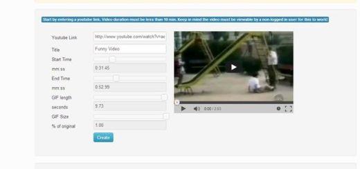 YouTube to GIF, convierte vídeos de YouTube en gifs animados