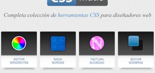 CSSmatic: un conjunto de herramientas CSS para los diseñadores web