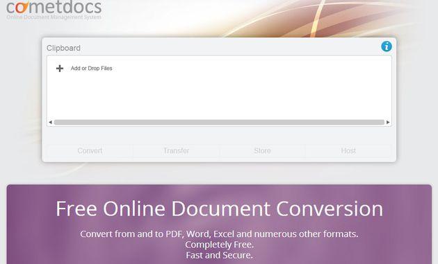 Cometdocs se renueva y ahora es mucho más que un conversor de archivos online