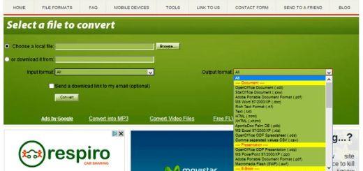 Convert Files: conversor online de documentos, imágenes, vídeos, audios, presentaciones y otros formatos