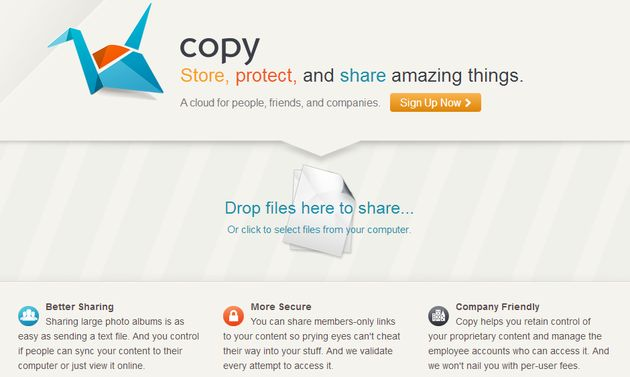 Copy: 5 GB o más de almacenamiento gratuito en la nube