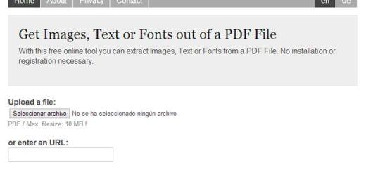 ExtractPDF: herramienta web gratuita para extraer imágenes, textos o fuentes de documentos PDF