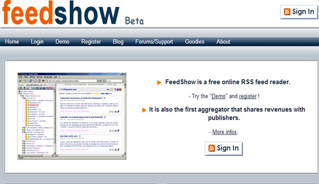 FeedShow Cinco excelentes alternativas a Google Reader