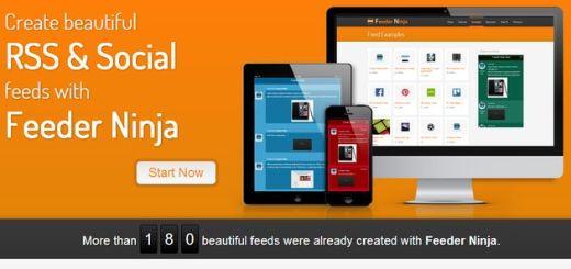 Feeder Ninja: crea widgets de Twitter, RSS y Facebook para insertar en tu sitio