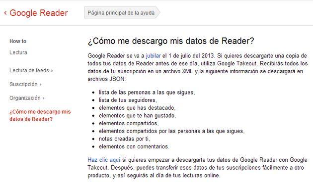 Google se carga Google Reader, otro más, solo estará activo hasta el 1 de julio