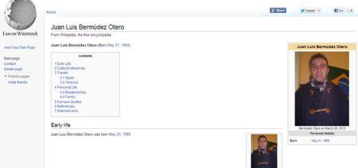I am on Wikipedia: crea una falsa página en Wikipedia a partir de tu biografía de Facebook