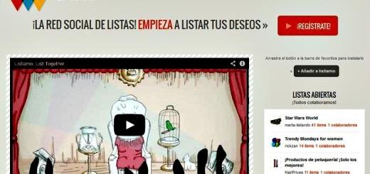 Listiamo, red social en español para crear y compartir listas
