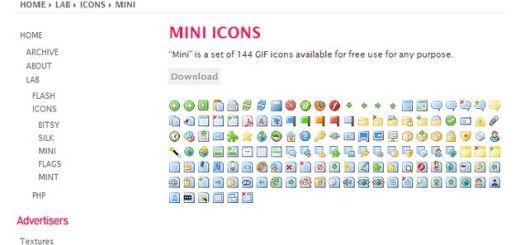 Mini Icons, una selecta colección de iconos minimalistas para uso gratuito