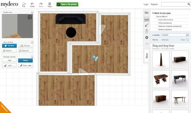 Mydeco 3d dise o de interiores en 2d y 3d con esta for Diseno de interiores en 3d