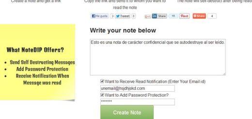 NoteDIP, envía notas privadas que se destruyen al ser leídas