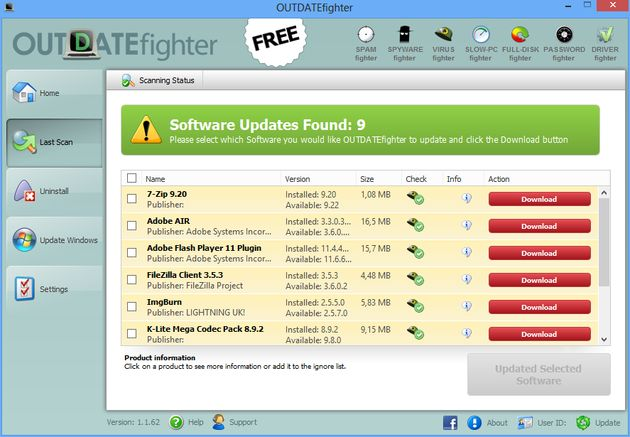 OUTDATEfighter OUTDATEfighter, mantén actualizado todo tu software en Windows