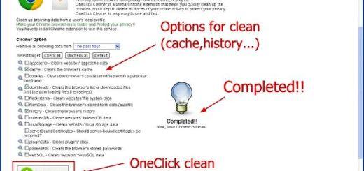 OneClick Cleaner, limpia y agiliza Chrome con esta extensión