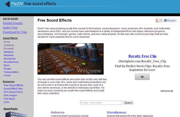 PacDV, una gran colección de sonidos y efectos sonoros gratis para tus proyectos
