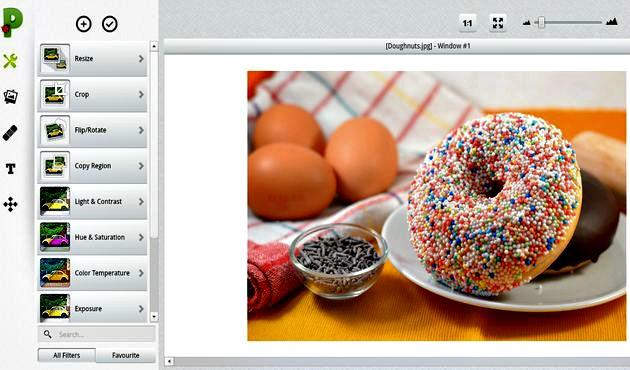 Picadilo, un gran editor fotográfico online y gratuito que está repleto de retoques y efectos