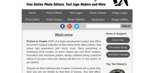 Picture to People: aplica efectos, edita fotos, crea textos, convierte imágenes y más