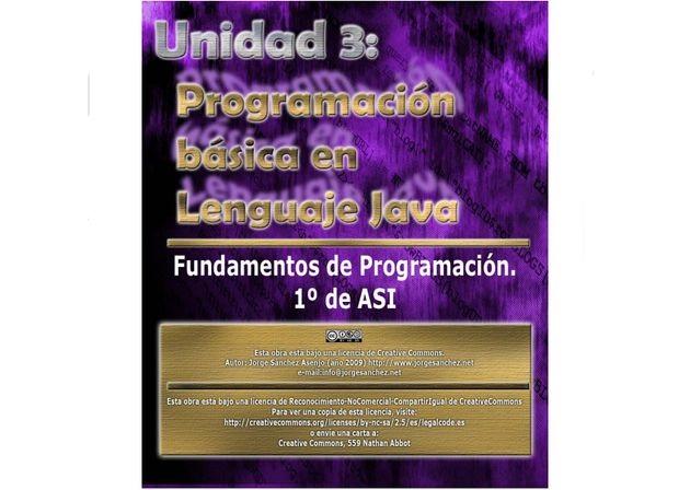 Programación Básica en Java, un manual gratuito para iniciarse en este lenguaje de programación