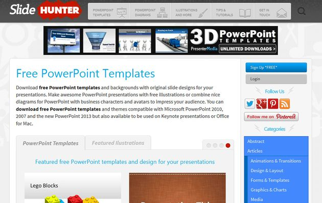 SlideHunter SlideHunter, más de 500 plantillas gratuitas para PowerPoint