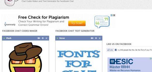 Smiley Chat Codes: utilidad web para crear emoticonos y textos para el chat de Facebook