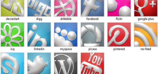 Sparkling Social Media Icons, un set con 16 bonitos iconos sociales en diferentes tamaños y formatos